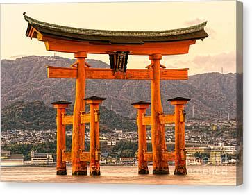 Miyajima Torii Gate -  Japan Canvas Print by Luciano Mortula