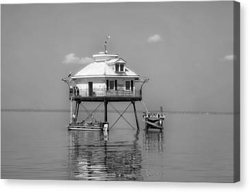 Mobile Bay Lighthouse Canvas Print by Mountain Dreams