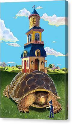 Mobile Home Canvas Print by J L Meadows
