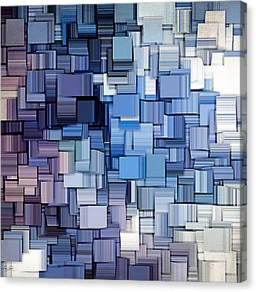 Modern Abstract Vi Canvas Print by Lourry Legarde
