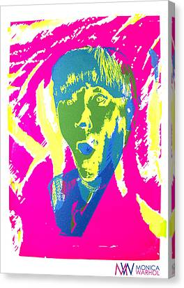 Moe Howard Canvas Print by Monica Warhol