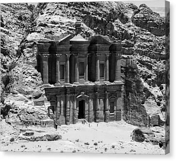 Monastery Of Petra Canvas Print by Ernesto Cinquepalmi
