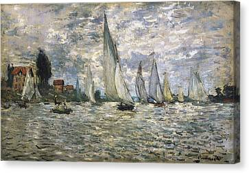 Monet, Claude 1840-1926. The Boats, Or Canvas Print by Everett