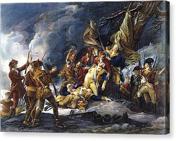 Montgomerys Death, 1775 Canvas Print by Granger