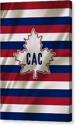 Montreal Canadiens Uniform Canvas Print by Joe Hamilton