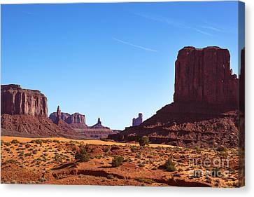 Monument Valley Landscape Canvas Print by Jane Rix