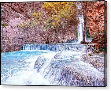 Mooney Falls Canvas Print by Stellina Giannitsi