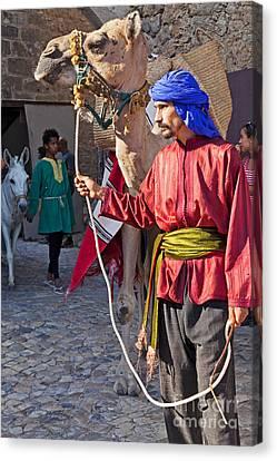 Moorish Man With Dromedary  Canvas Print by Jose Elias - Sofia Pereira