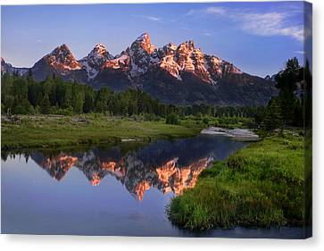 Morning Reflections Canvas Print by Andrew Soundarajan