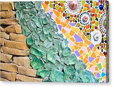 Mosaic Texture  Canvas Print by Niphon Chanthana