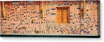 Mosaic, Wat Xien Thong, Luang Prabang Canvas Print by Panoramic Images