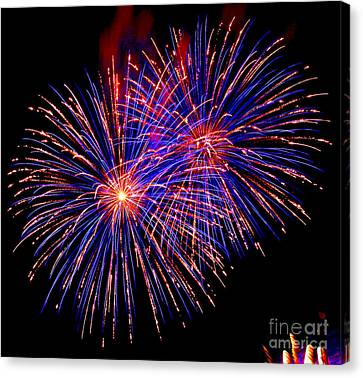 Most Spectacular Fireworks Selection - Worldwide Championship - Montreal Canvas Print by Emma Lambert