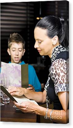 Mother And Son Consulting Menus Canvas Print by Jorgo Photography - Wall Art Gallery
