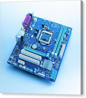 Motherboard Canvas Print by Science Photo Library
