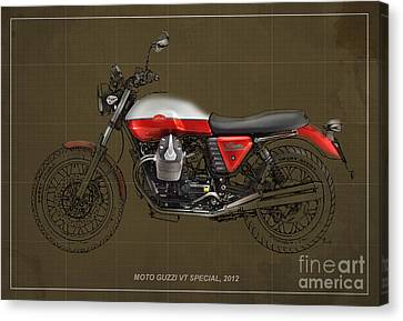 Moto Guzzi V7 Special 2012 Original Style Canvas Print by Pablo Franchi
