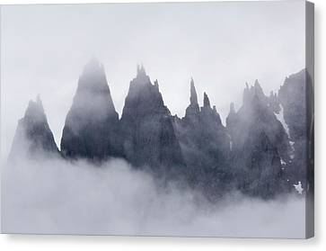 Mountains In Fog, Prince Christian Canvas Print by Daisy Gilardini