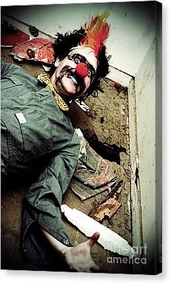 Mr Sleepy The Creepy Clown Canvas Print by Jorgo Photography - Wall Art Gallery