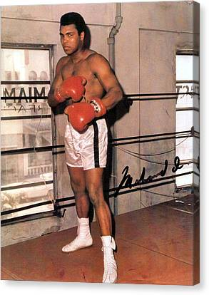 Muhammad Ali Canvas Print by Unknown