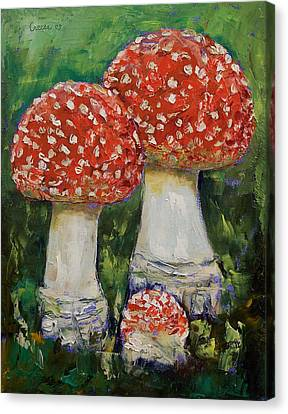 Mushrooms Canvas Print by Michael Creese