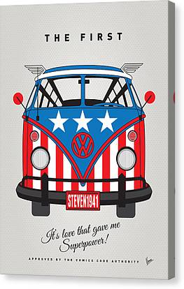My Superhero-vw-t1-captain America	 Canvas Print by Chungkong Art
