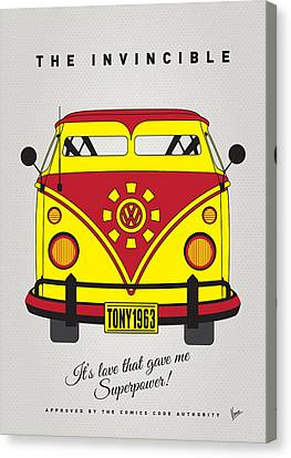 My Superhero-vw-t1-iron Man Canvas Print by Chungkong Art