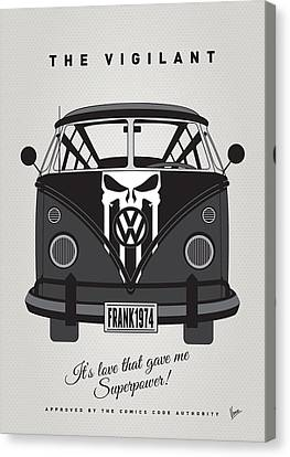 My Superhero-vw-t1-punisher Canvas Print by Chungkong Art
