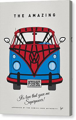 My Superhero-vw-t1-spiderman Canvas Print by Chungkong Art