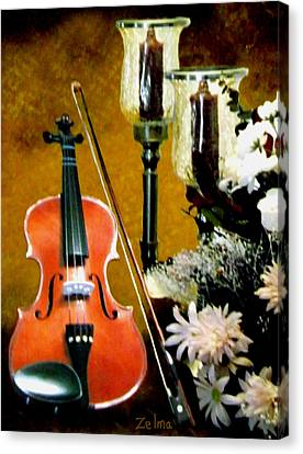My Violin Canvas Print by Zelma Hensel