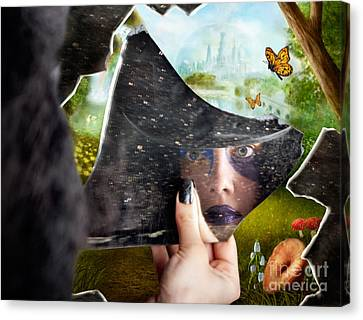 Mysterious Jester Found Wonderland In A Reflection Canvas Print by Jorgo Photography - Wall Art Gallery