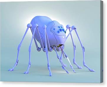 Nanobot Spider Canvas Print by Tim Vernon