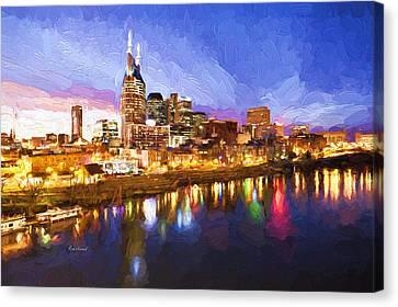 Nashville Colors Canvas Print by Garland Johnson
