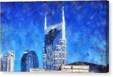 Nashville Skyline Canvas Print by Dan Sproul