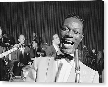 Nat King Cole 1954 Canvas Print by The Phillip Harrington Collection