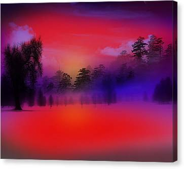 Nature Composition In Blue Canvas Print by Mark Ashkenazi