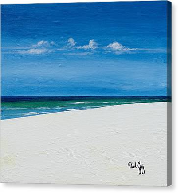 Navarre Beach Canvas Print by Paul Gaj