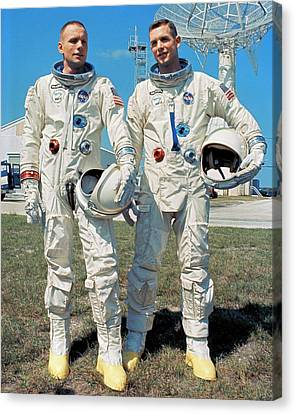 Neil Armstrong And David R. Scott In 1966 Canvas Print by Nasa