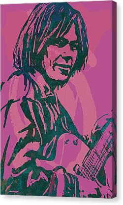 Neil Young Pop Artsketch Portrait Poster Canvas Print by Kim Wang