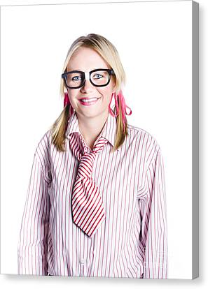 Nerdy Young Business Person Canvas Print by Jorgo Photography - Wall Art Gallery