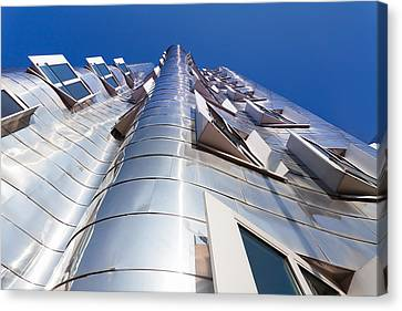 Neuer Zollhof Building Designed Canvas Print by Panoramic Images