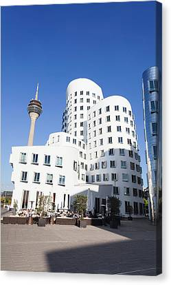 Neuer Zollhof Buildings Designed Canvas Print by Panoramic Images