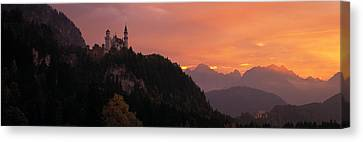 Neuschwanstein Palace Bavaria Germany Canvas Print by Panoramic Images