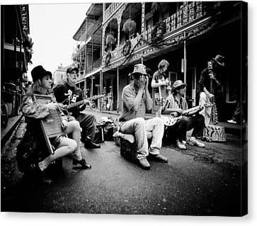 New Orleans Street Musicians Canvas Print by Mountain Dreams