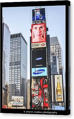 New York New York Canvas Print by B Wayne Mullins