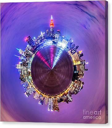 New York Skyline Circagraph Canvas Print by Az Jackson