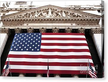 New York Stock Exchange Canvas Print by John Rizzuto