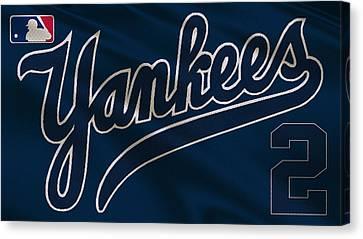 New York Yankees Derek Jeter Canvas Print by Joe Hamilton