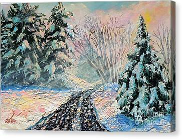 Nixon's A Colorful Winter Day Canvas Print by Lee Nixon