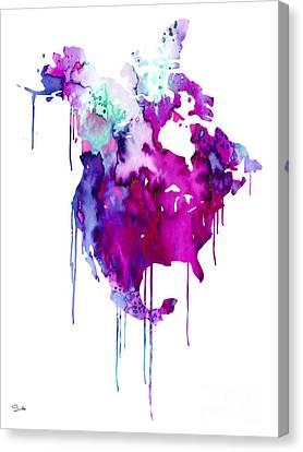 North America 2 Canvas Print by Luke and Slavi