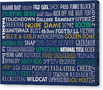 Notre Dame Football Canvas Print by Jaime Friedman
