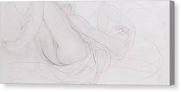 Nude Canvas Print by Auguste Rodin